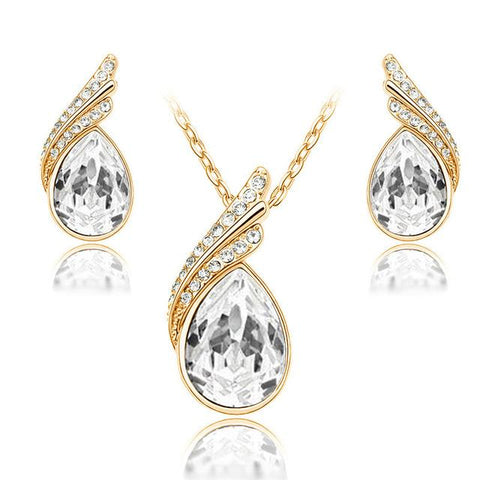 Austrian Crystal Water Drops Jewelry Sets