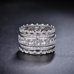 Exquisite Swarovski Crystal Jewelry Rings