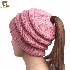 High Bun Ponytail Women's Popular Beanie Hat