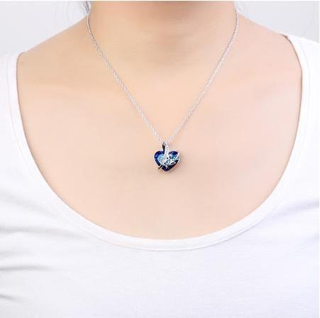 LOVE Pendant Necklaces - Classic Heart Shaped Crystal From Swarovski