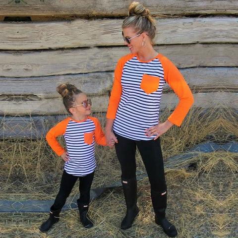 Mother Daughter Casual Long Sleeve