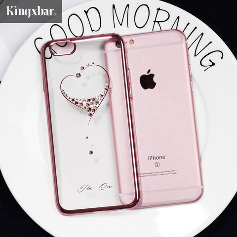 Ultra Slim Swarovski Crystal Diamond Hard Case Cover For IPhone 6, 6s, 7, 8 Plus