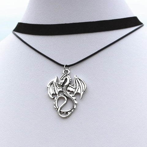 Vintage Dragon Pendant Necklace