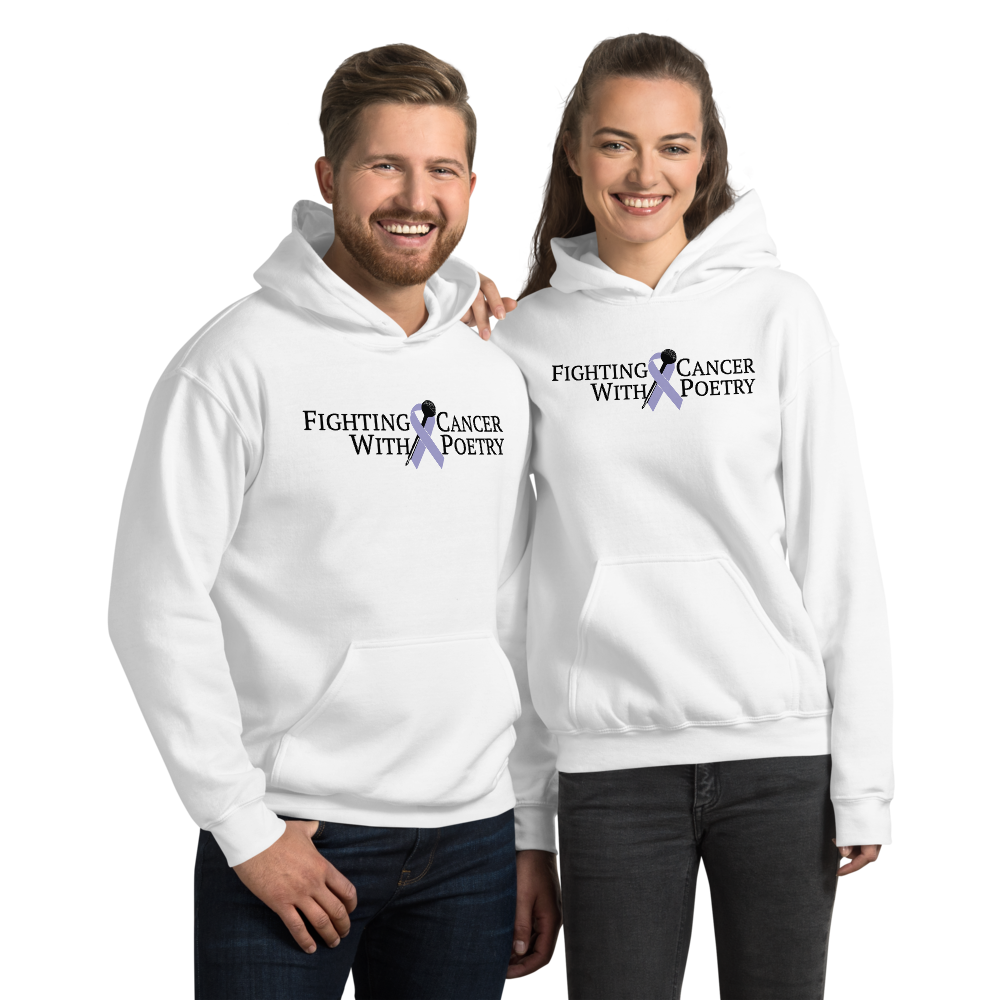 Fighting Cancer With Poetry Unisex Hoodie (All Cancers/Testicular Cancer)