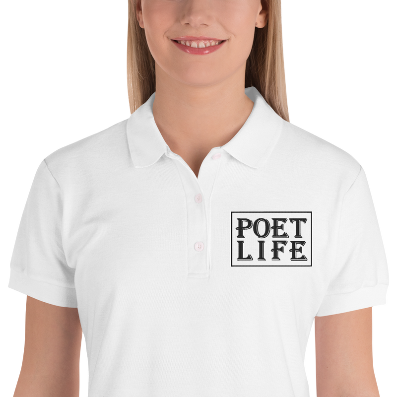 Poet Life Signature Logo Embroidered Women's Polo Shirt