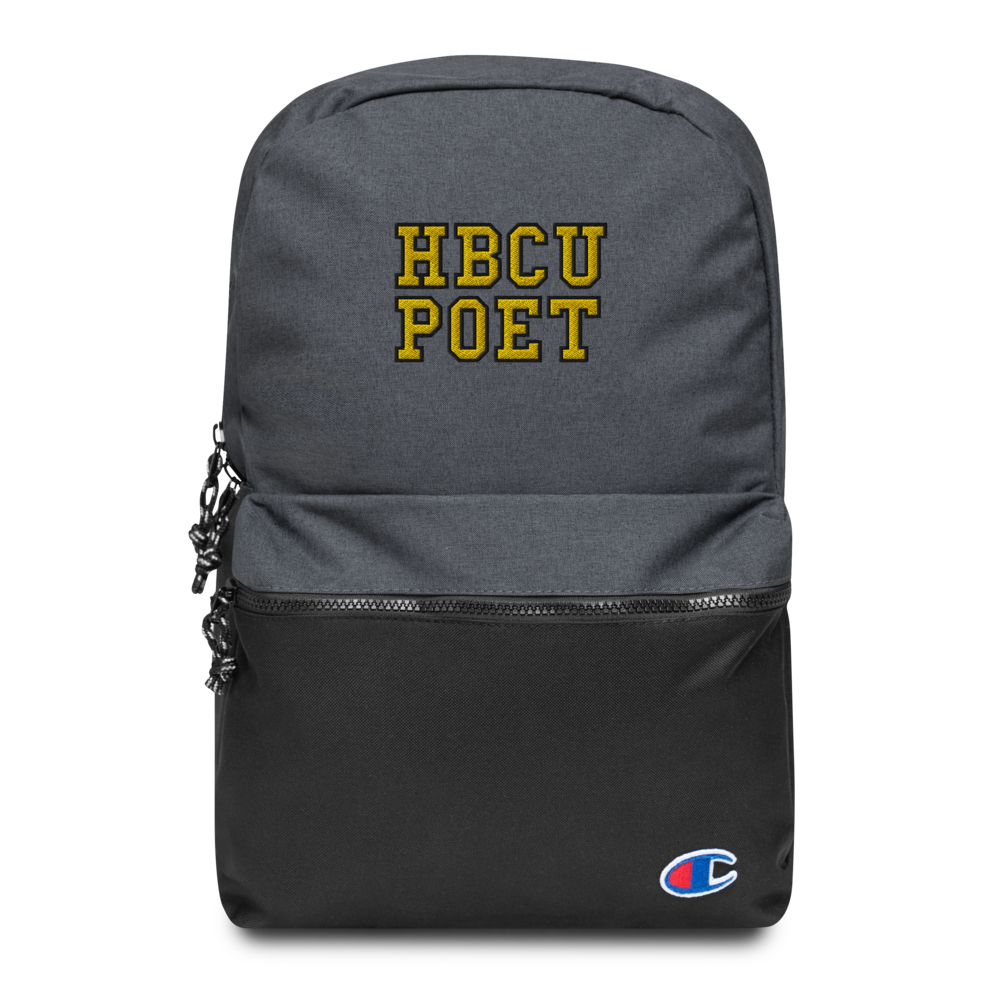 HBCU POET Embroidered Champion Backpack