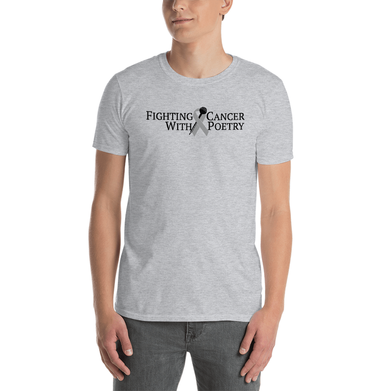 Fighting Cancer With Poetry Short-Sleeve Unisex T-Shirt (Brain)