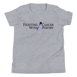 Fighting Cancer With Poetry Youth Short Sleeve T-Shirt(All Cancers/Testicular Cancer)