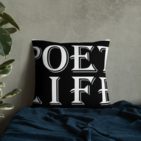 Black Poet Life Signature Logo Premium Pillow