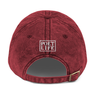 Fighting Cancer With Poetry Vintage Cotton Twill Cap (Colorectal)