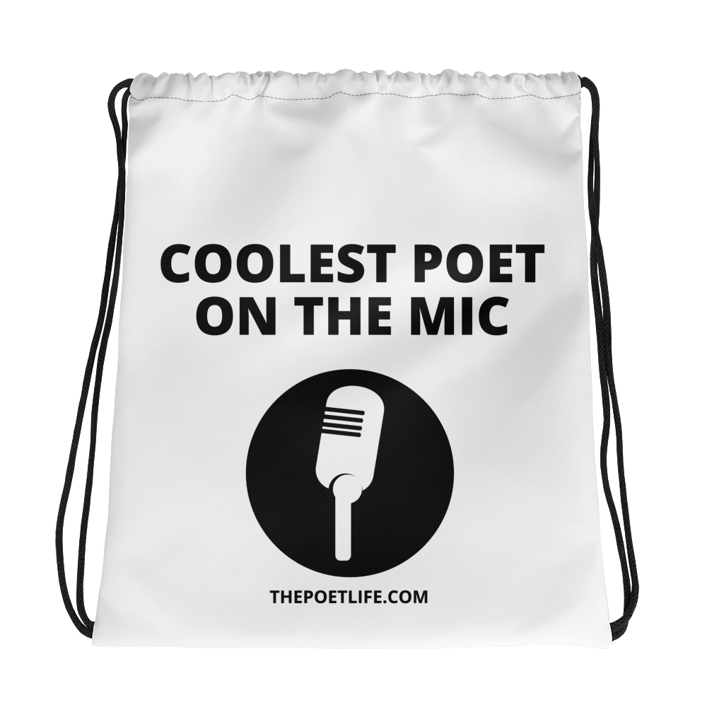 Coolest Poet Drawstring bag
