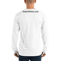 Fighting Cancer With Poetry Long Sleeve T-Shirt (All Cancers/Testicular Cancer)