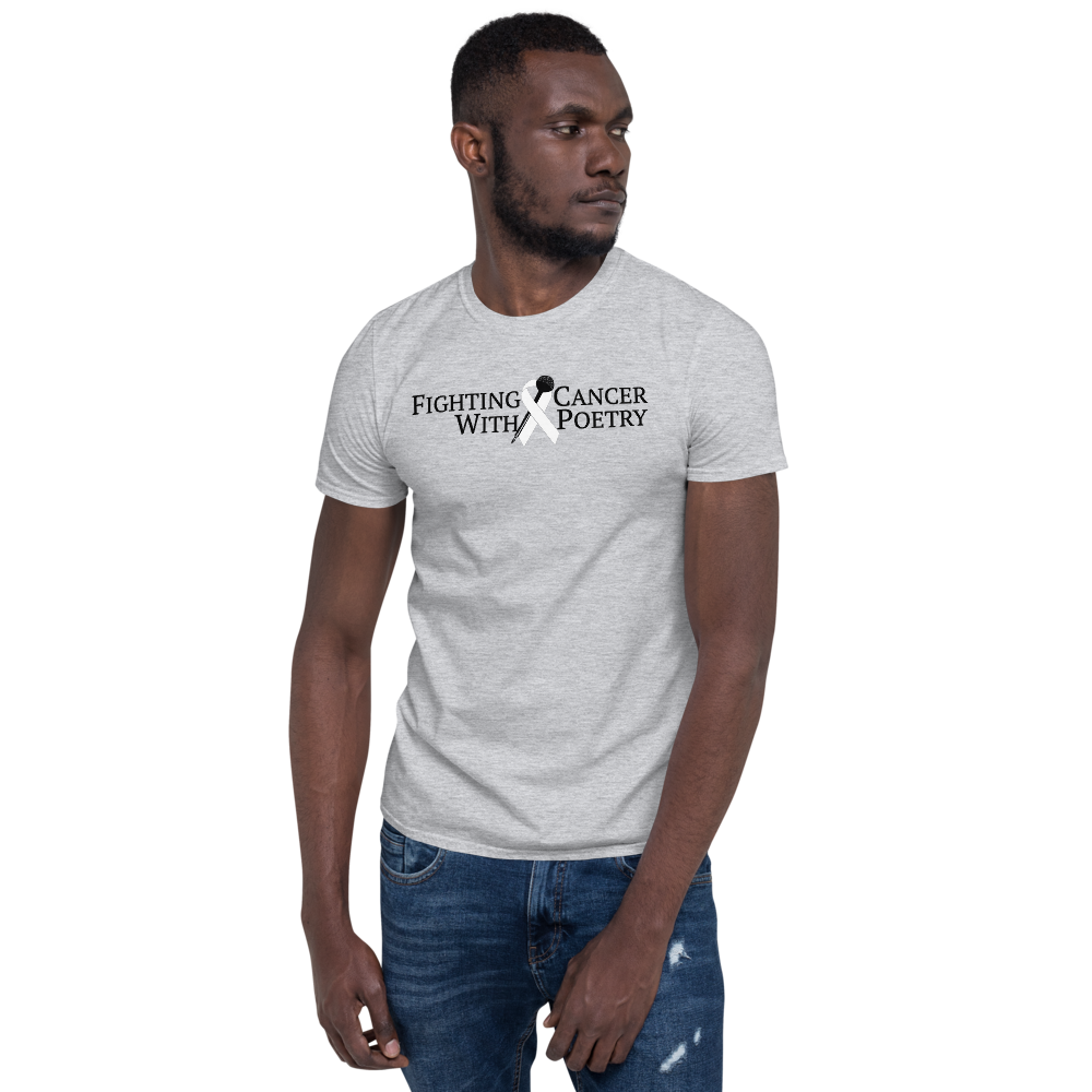 Fighting Cancer With Poetry Short-Sleeve Unisex T-Shirt (Lung)