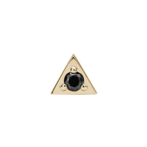 Black Diamond Triangle Studs