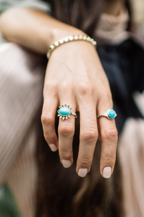Turquoise Protection Ring