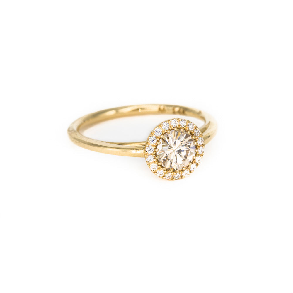 Champagne Perfect Halo Ring