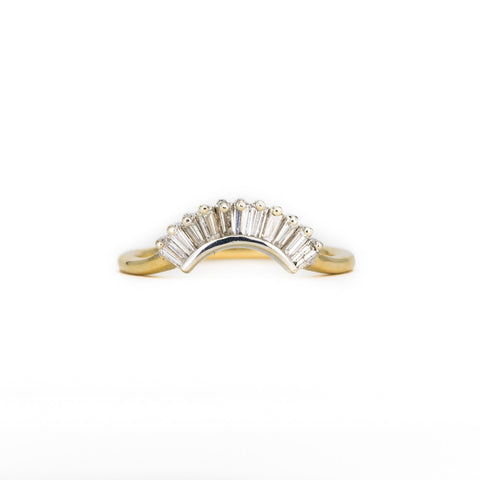 White Diamond Small Crown Ring