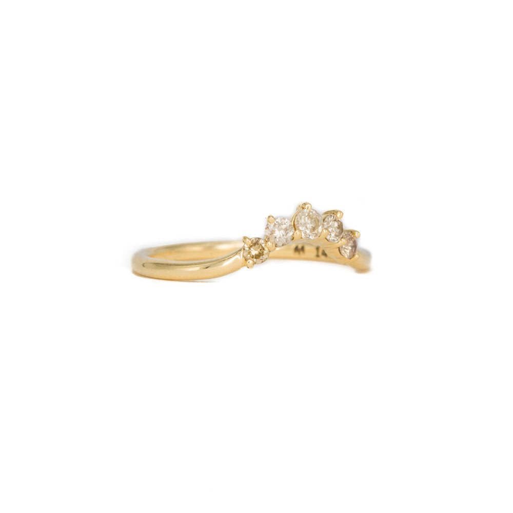 Champagne Mini Crown Ring