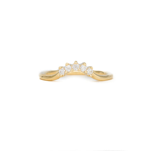 Champagne Headdress Engagement Ring