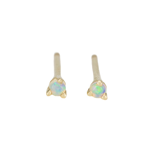 The Teeniest Opal Studs