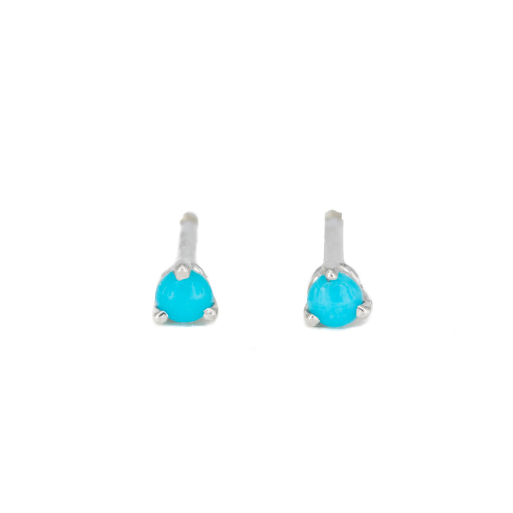The Teeniest Turquoise Studs
