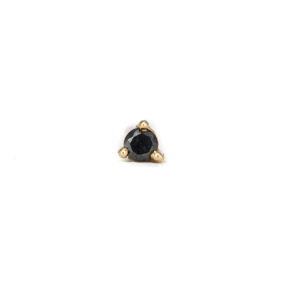 The Teeniest Black Diamond Studs
