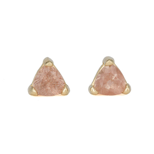 Sunstone Trillion Studs