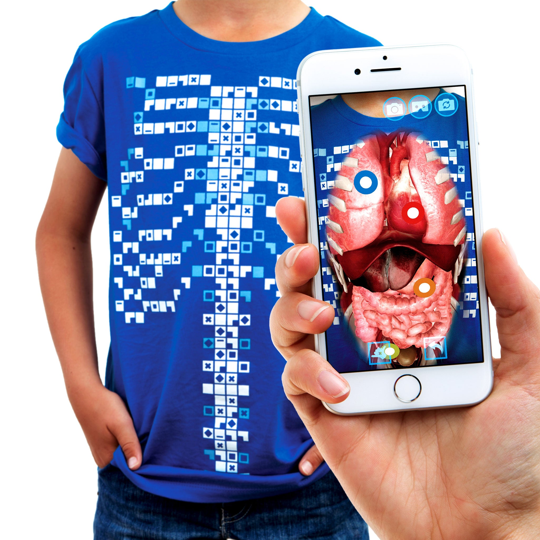 Curiscope Virtuali Tee Learn About The Human Body With Ar