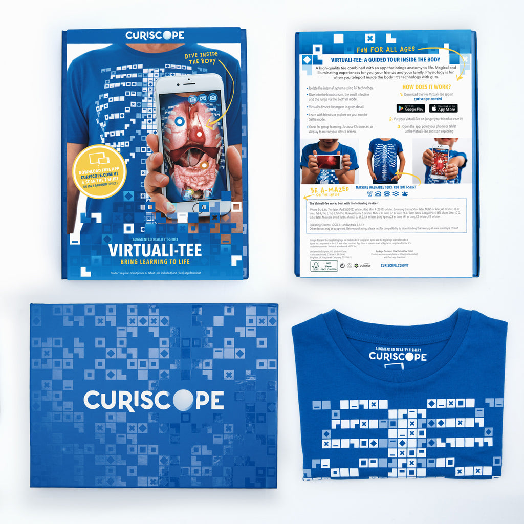 8967beb29 Curiscope Virtuali-Tee - Learn about the Human Body with AR