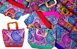 Wooden handle hand bags as a return gift for Mehendi