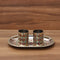 2 Glass Minakari Tray with stone work - W3780