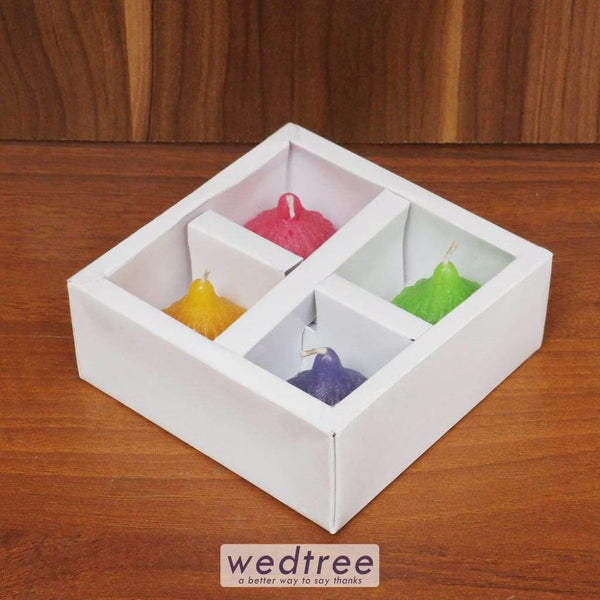 Assorted Colour Candle Set Of 4 - W4479 Candles