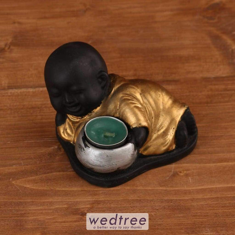 Baby Buddha With Candle - W1680 Diyas & Holders