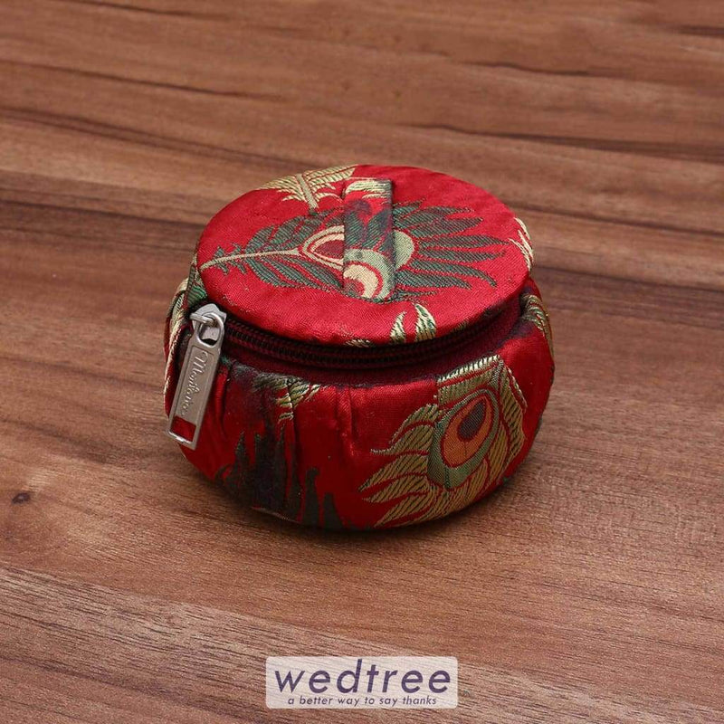 Bangle Box With Peacock Feather Design - W3441 Jewellery Holder