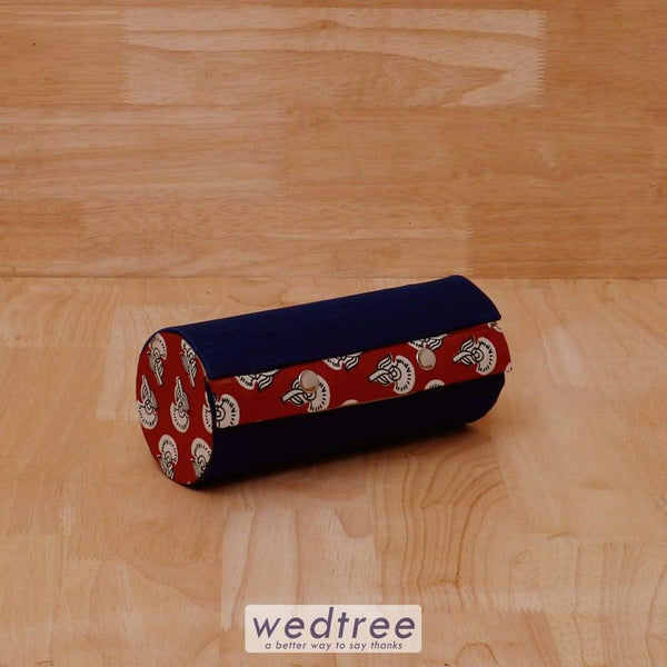 Bangle Holder 3 Partition With Mixed Kalamkari Design - W4057 Jewellery Holder