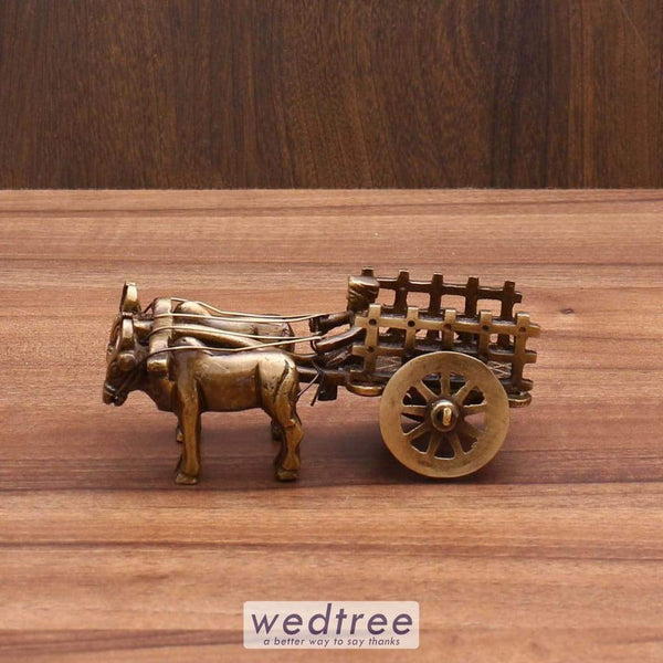 Brass Bullock Cart - W3487 Home Decors