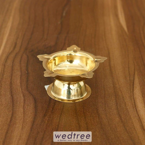 Brass Five Star Deepak - W4318 Diyas & Candle Holders