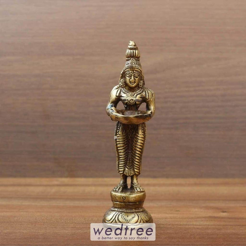 Brass Idol With Diya Home Decors