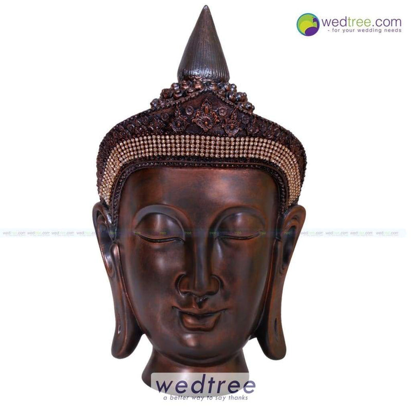 Buddha Head With Crown 12 Inch Home Decors