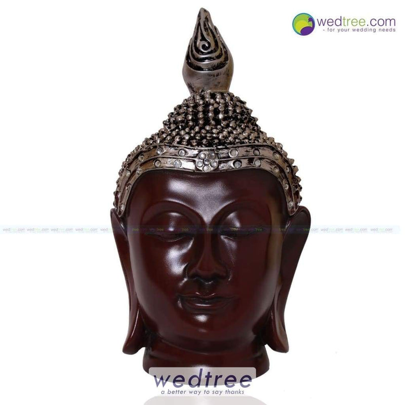 Buddha Head With Crown 9 Inch Home Decors