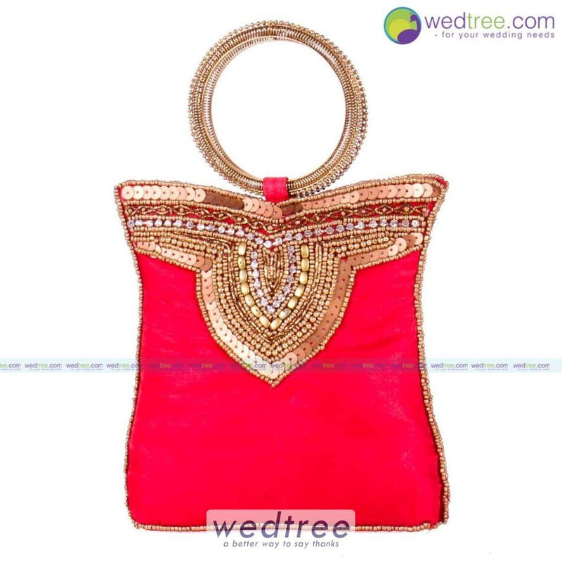 Clutch Bag - Bangle Type With Rich Gold Sequins Clutches & Purses