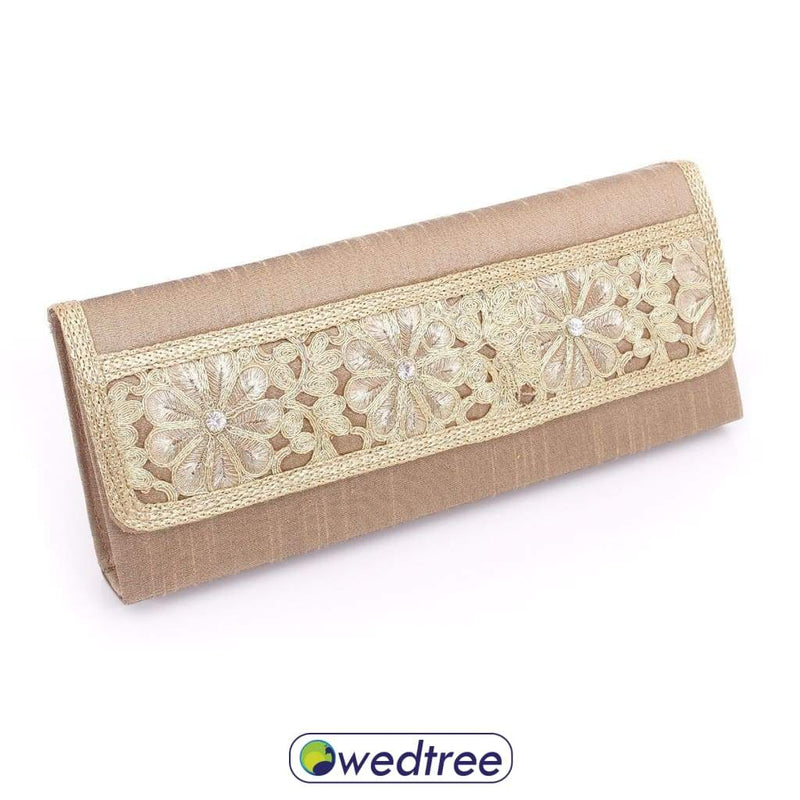 Clutch Purse - Golden Zari Embriodary Clutches & Purses