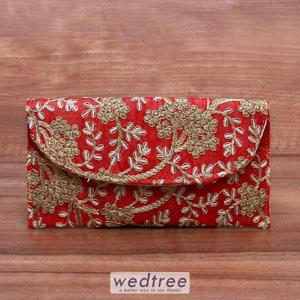 Clutch Purse With Embroidery - W4172 Clutches & Purses