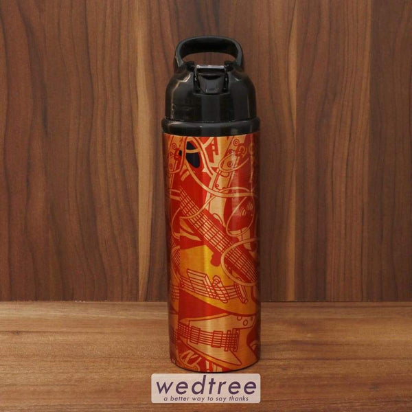 Copper Digital Printed Sipper Bottle - W4515 Utensils