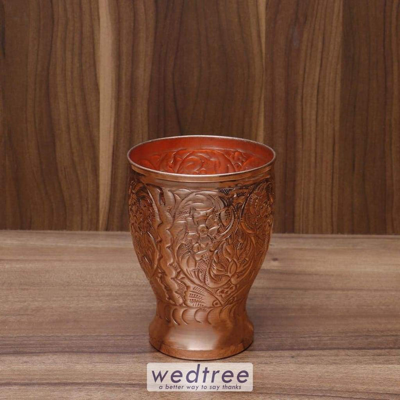 Copper Floral Engraved Glass - W4516 Utensils