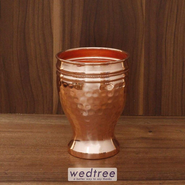 Copper Glass With Hammered Design - W4517 Utensils