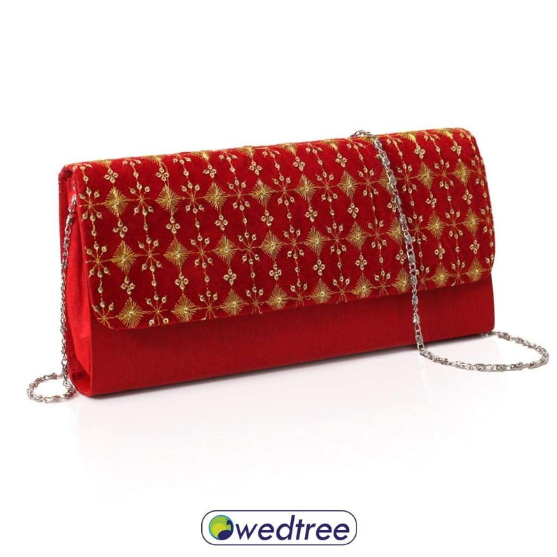 Designer Clutch - Velvet With Embroidery Clutches & Purses