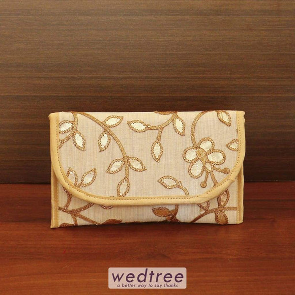 Designer Clutch With Mixed Embroidery Designs - W4542 Clutches & Purses