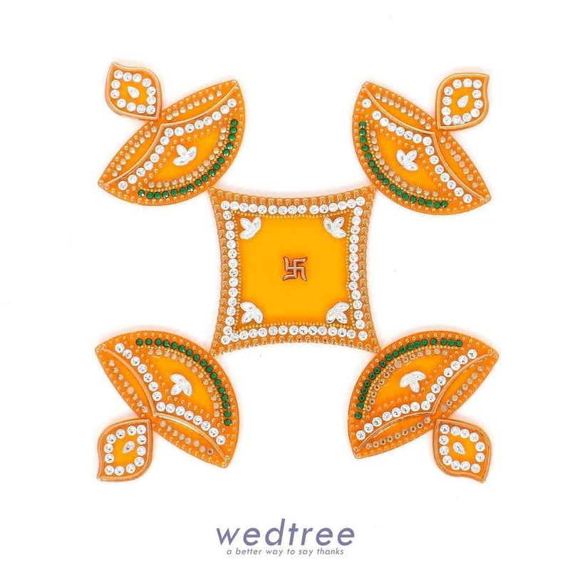 Designer Rangoli Mixed Design-W2976 Home Decors