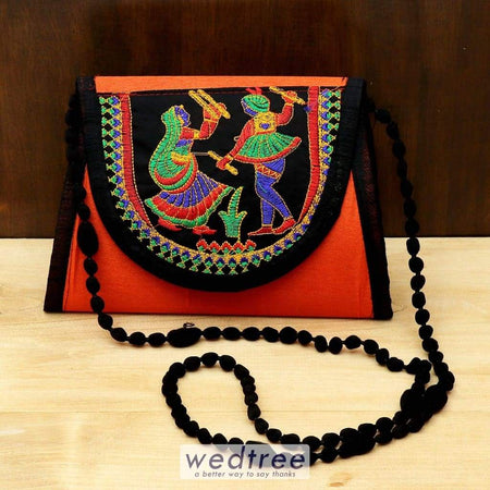 Designer Sling Bag With Embroidery Work - W4448 Sling Bags